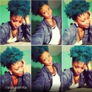 Elainafrika knows how to rock vibrant hair